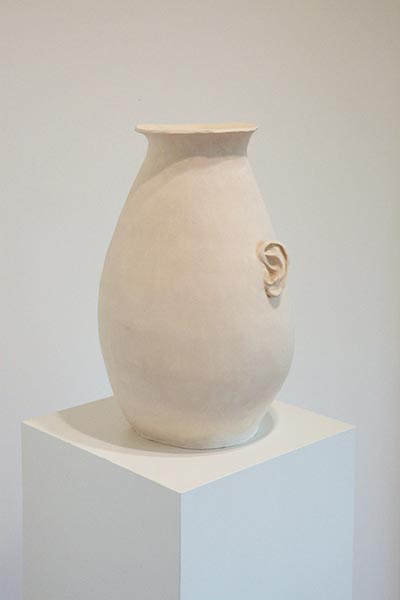 Vase: Infinity is just not what it used to be, fired clay, 45 x 30 x 30cm, 2013, image courtesy the artist, © the artist