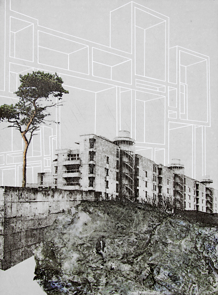 translocation.17, 2013, ink and pigment transfer on concrete board, 30 x 22cm, © the artist