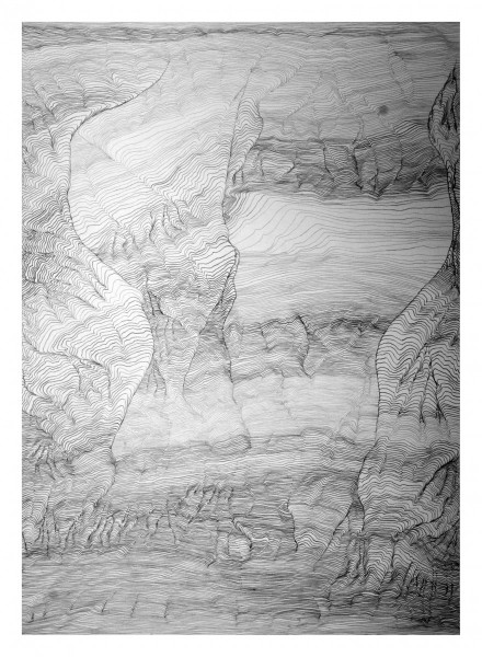 Drawing Out: Tidal Topographies 12, 2012, work on paper, 86 x 100cm, 136 x 160cm (framed), © the artist