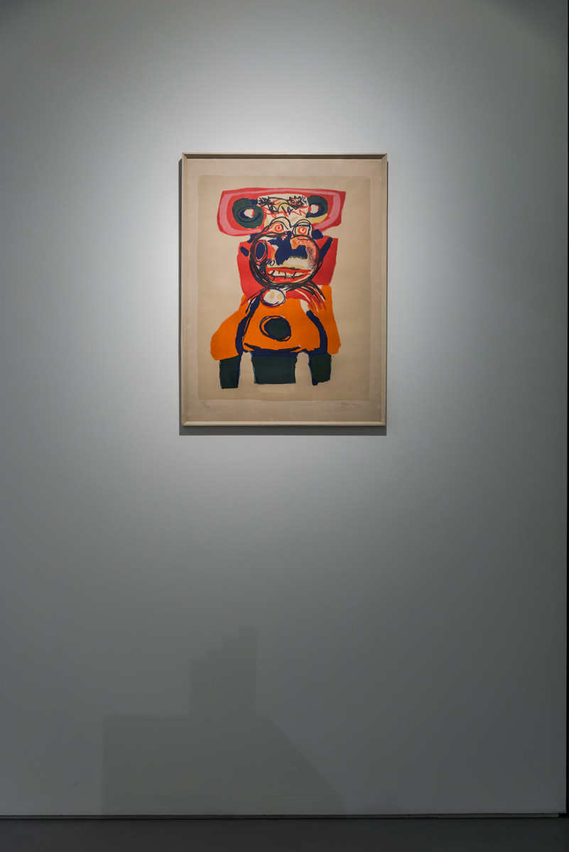 Karel Appel, Compelviction (1967) Lithograph, edition 89/99 Wolverhampton Art Gallery. Eric and Jean Cass Gift. Photo: Joe Plommer