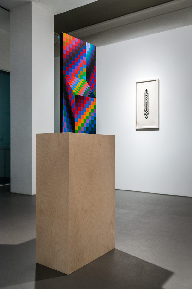 Victor Vasarely, AXO-99 (1987), painted wood, edition 15/175, 69.6 x 34.9 x 10.2cm Wolverhampton Art Gallery. Eric and Jean Cass Gift. Photo: Joe Plommer