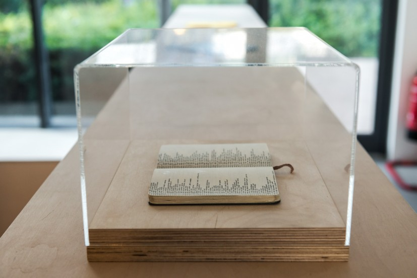Rachael Clewlow, Notebook, 2012, notebook in perspex and ply display case, 19.3 x 30 x 25cm. Courtesy of the artist. Photo: Joe Plommer