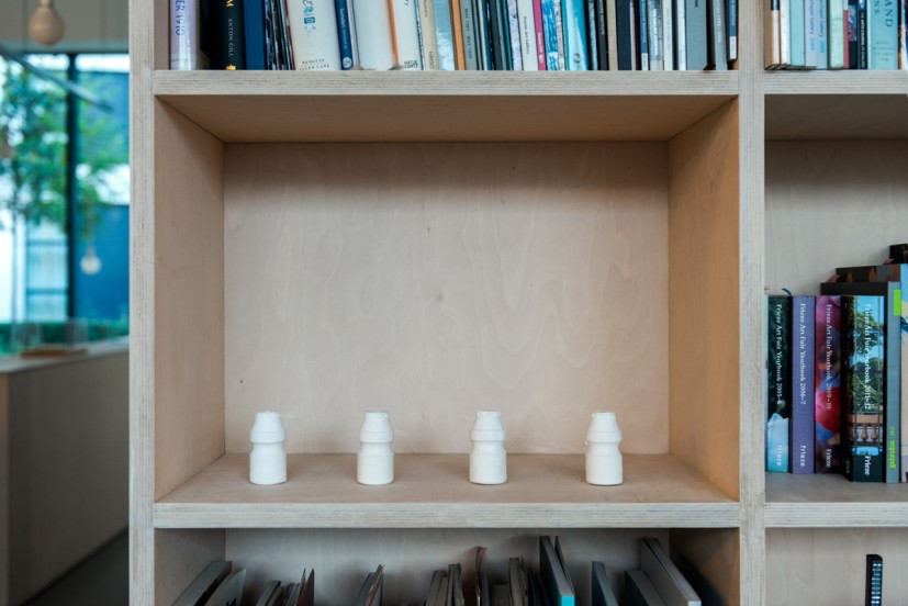 Cecilia Stenbom, Bio-Terrorism vs. Natural Defence, 2010, crystacal plaster , edition of 3 plus 1 A/P, (each) 10 x 4 x 4cm. Courtesy of the artist and Workplace Gallery. Photo: Joe Plommer