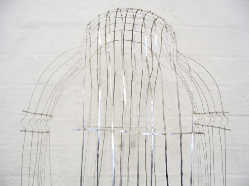 Cloak of Invisibility (detail), 2008, aluminium and steel, 200 x 60 x 60cm, © the artist
