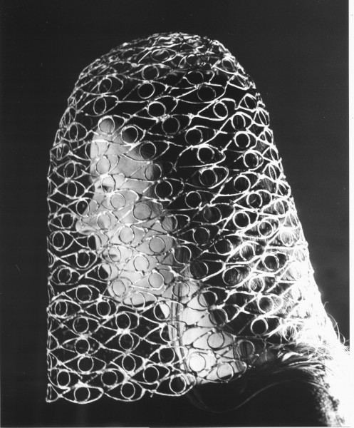 Mantilla (with Clare Whistler), 2010, hand-printed black and white photograph, edition of 20, 13 x 18cm, © the artist