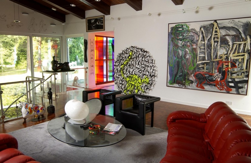 'Bleep', Eric & Jean Cass' spectacular modernist home, showing some of the works they would later donate to Contemporary Art Society. Photo: Doug Atfield