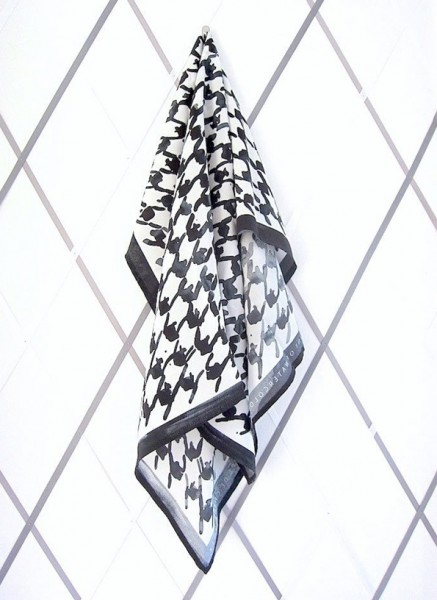 Dogtooth Protection, 2012, digital print on silk crepe de chine scarf with magnet, edition of 25, © the artist
