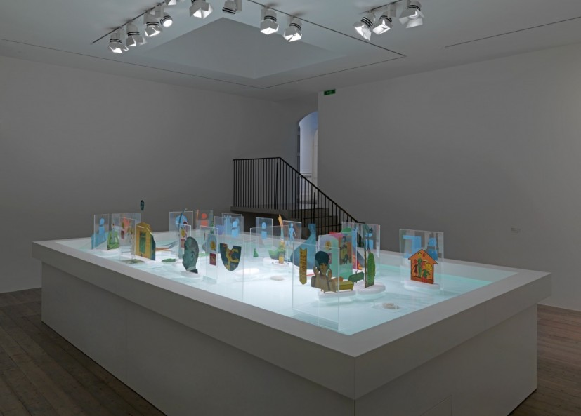 Öyvind Fahlström, The Little General (Pinball Machine), 1967-68, Collection Sharon Avery-Fahlstrom, Photograph by Marcus J. Leith, Image courtesy of Raven Row