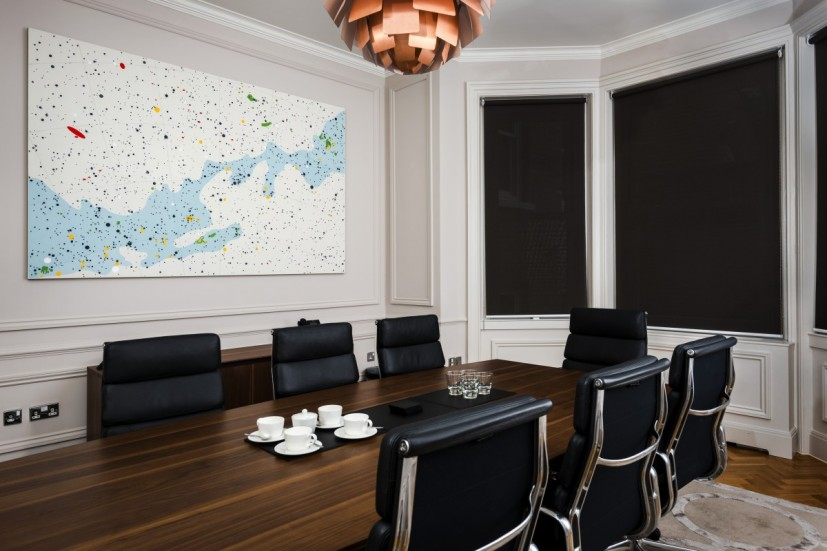 Sea the Stars by Alison Turnbull, Inflexion Offices, Mayfair, London. Photo: Joe Plommer.