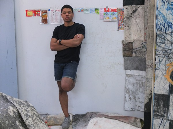 Oscar Murillo. Photo by Lalo Borja. Courtesy David Zwirner, New York/London