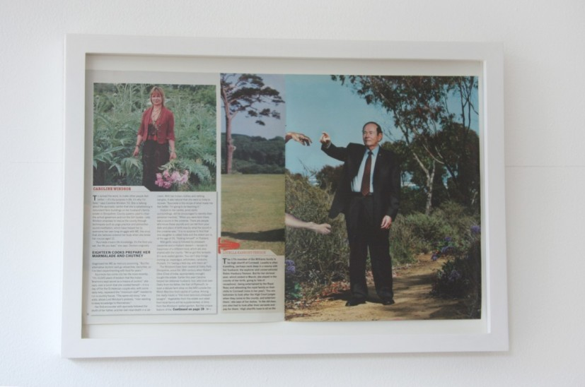 Eighteen Cooks Prepared Her Marmalade and Chutney Da Vinci, framed double-page magazine spreads, 37cm x 57.6 cm x 3.5cm, 2007 ©  the artist