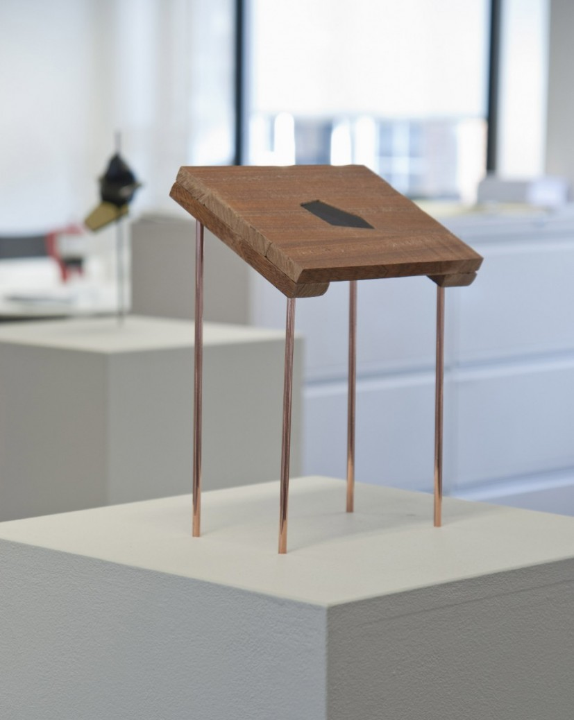 Raised Platform, 2011, copper, wood and acrylic sheet, 30 x 20 x 17cm, photo: Tom Horak, courtesy the Contemporary Art Society © the artist