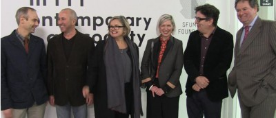 Annual Award 2013 winners with Contemporary Art Society Director Caroline Douglas, Chairman Mark Stephens, and award presenter Mark Wallinger.