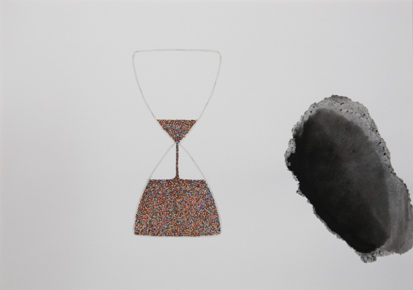The Hourglass (1), 2013,  felt tip and ink on paper, 29.6 x 21cm, © the artist