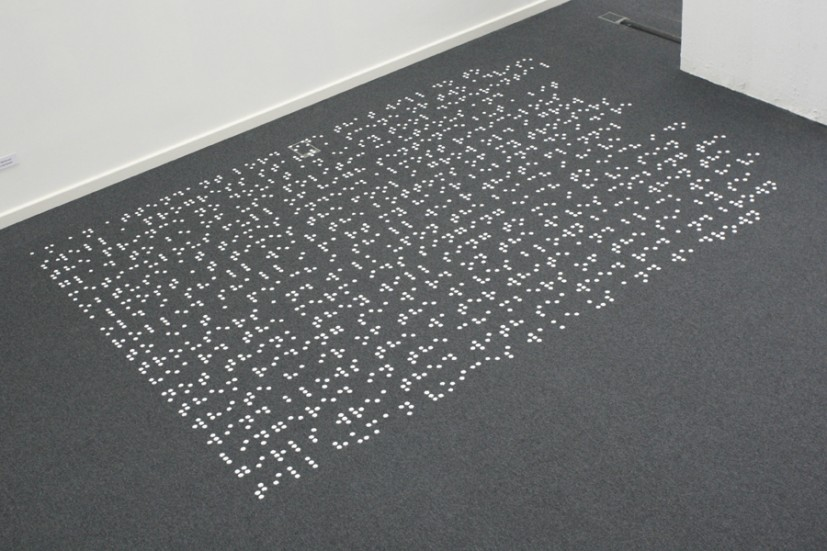 Till human voices wake us, 2012, salt, 240 x 340 x 0.5cm, edition of 3 + 1AP, courtesy the artist, La Caja Blanca Gallery and the Wilhelm-Hack Museum, photos Martin Oeser, © the artist