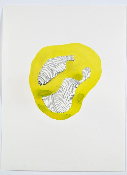 Nicola Ellis, Some rounder areas, acrylic ink and watercolour, 30cm x 42cm, 2011, photo courtesy of the artist