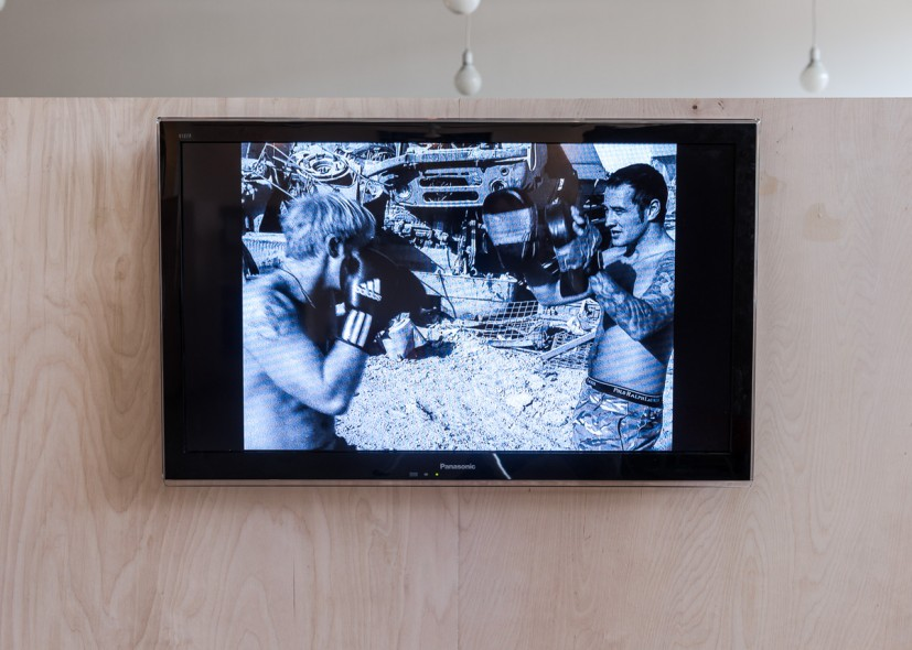Mark Neville, Paratroopers (still), 2011, Transfer from 16mm film to HD movie, duration 7 minutes, Edition of 5, Courtesy the artist. Photo: Joe Plommer