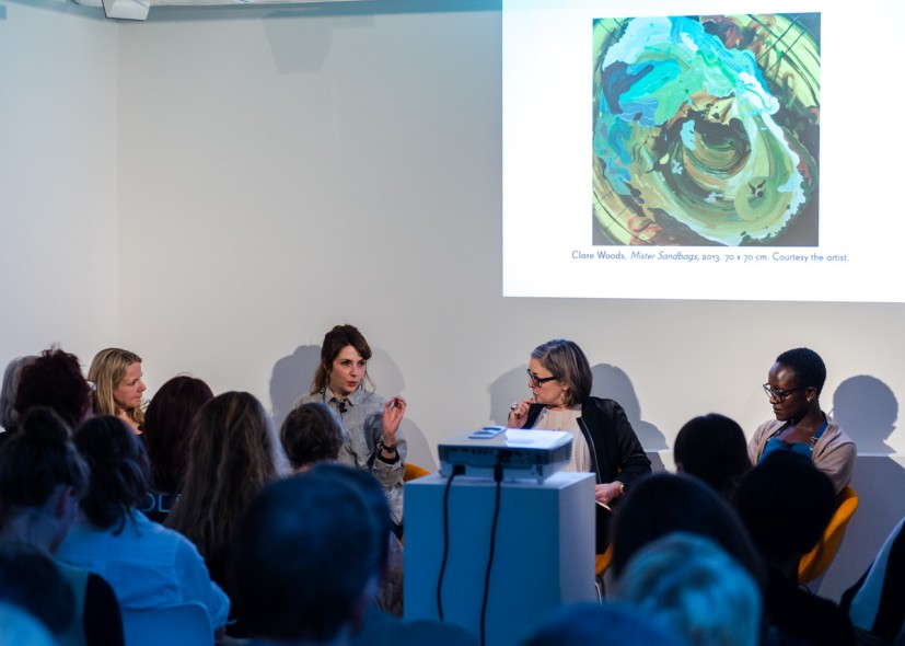 DISPLAYS Artist Talk – Three Women Painters: Phoebe Unwin, Clare Woods and Lynette Yiadom-Boakye (15 May 2014). Photo: Joe Plommer