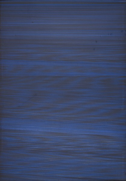 Nina Chua, Blue Black, 2012, pen on paper, photo Michael Pollard, © the artist