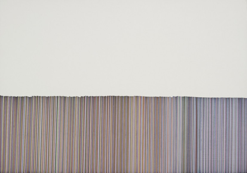 Nina Chua, Stripe 4, 2012, pen on paper, photo Michael Pollard, © the artist
