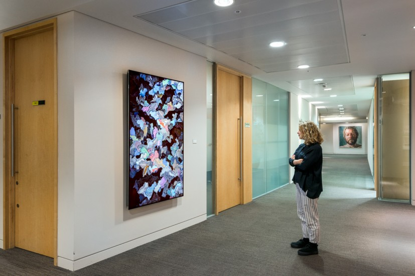 Yi-Chun Lin, Aspen Online Art Commission installed in the London offices. Photo: © Joe Plommer