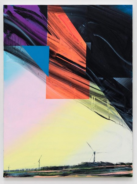 Turbines (Wear Point), acrylic on canvas, 122 x 92cm, 2014. Image courtesy the artist, photo: Joe Plommer