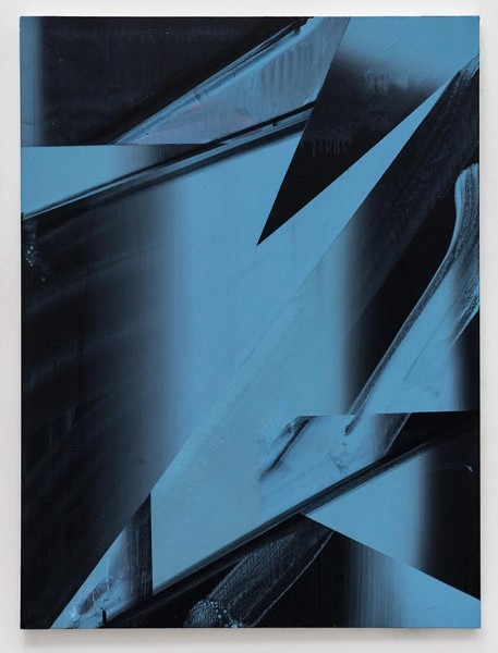 Untitled (Atlantic Grey Version), acrylic on canvas, 102 x 76.5cm, 2014. Image courtesy the artist, photo: Joe Plommer