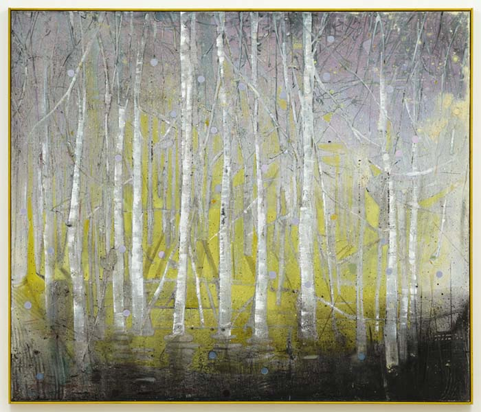 Betula Pendula, oil on canvas, 168 x 198cm, 2012, image courtesy the artist and Wilkinson Gallery, London, © the artist
