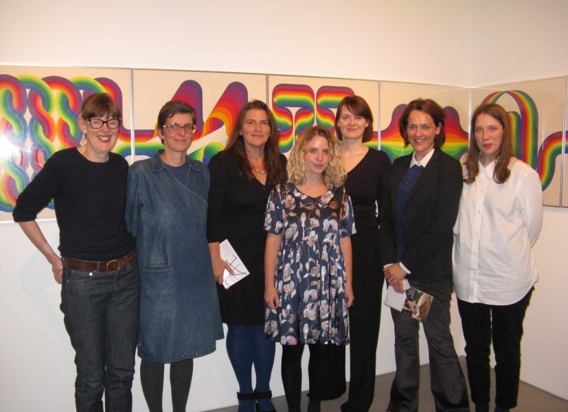 Public Art Forum. Left to right: Michaela Crimmin, Kathrin Bohm, Liza Fior, CAS Consultancy's Helen Nisbet, Louise Coysh, Claire Doherty and CAS Consultancy's Ellen Feiss