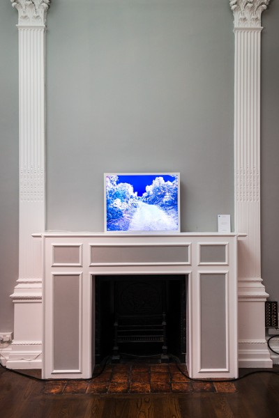 Catherine Yass, Sleep (chemin), Ilfotrans transparency, lightbox, 68 x 86 x 12.5cm, edition 2 of 3 + 2 artist's proofs. RE- Preview, installation view at the ICA, London, March 2014 (photo: Joe Plommer)
