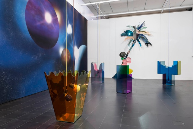 Gary Webb, X7 City, installation view at Bloomberg SPACE, London, 2014. Image courtesy The approach, London, © the artist.