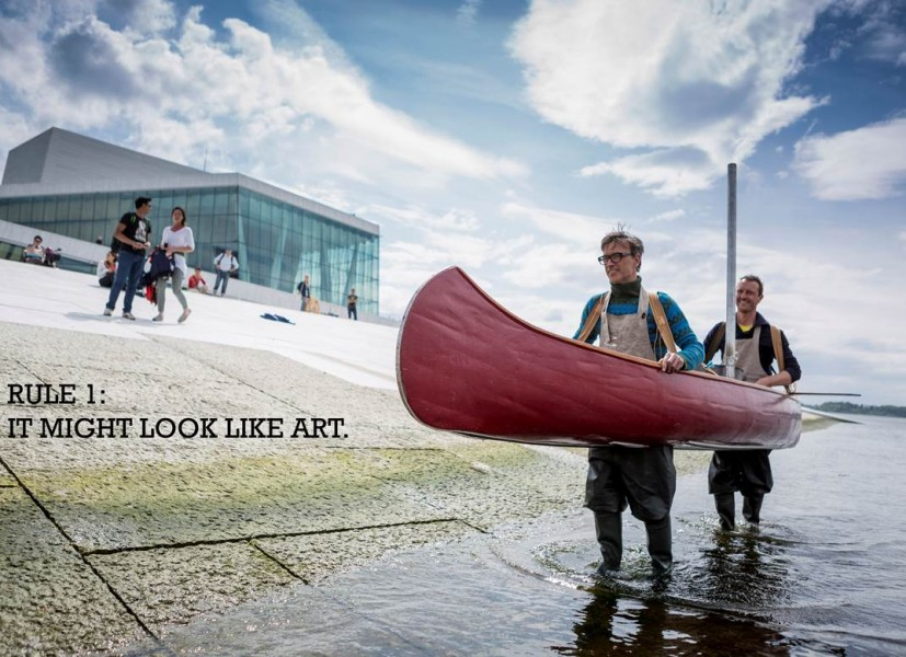 Flatbread Society disembark on Oslo Opera House Part of Slow Space commissioned by Situations, 2013. Photo Max McClure