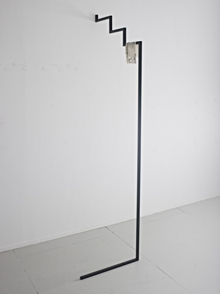 1921, powder-coated steel, silicone, 88 x 70 x 265cm, 2013. Image courtesy the artist and Workplace Gallery, UK. © the artist