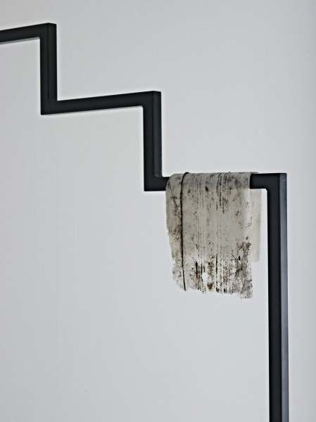 1921 (detail), powder-coated steel, silicone, 88 x 70 x 265cm, 2013. Image courtesy the artist and Workplace Gallery, UK. © the artist