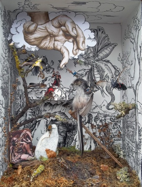 The Temptation of St.Anthony, mixed media, sculpture, 25 x 31 x 15cm, 2014.  Image courtesy the artist and Man&Eve, London, © the artist.