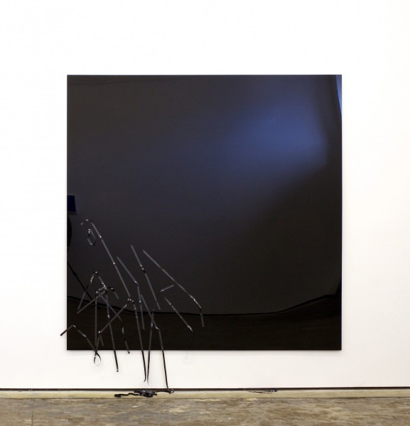 Misery 2012, VHS tape on plexi glass, 200 x 200 x 0.6cm. Image courtesy the artist and Workplace Gallery, UK. © the artist