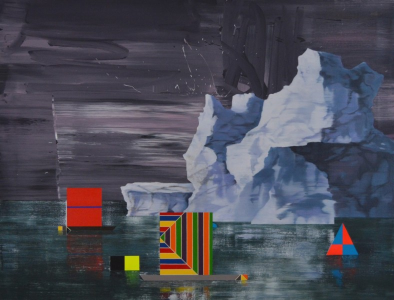 The Ice Island 2, oil and acrylic on canvas, 86 x 112cm, 2014. Image courtesy the artist, © the artist