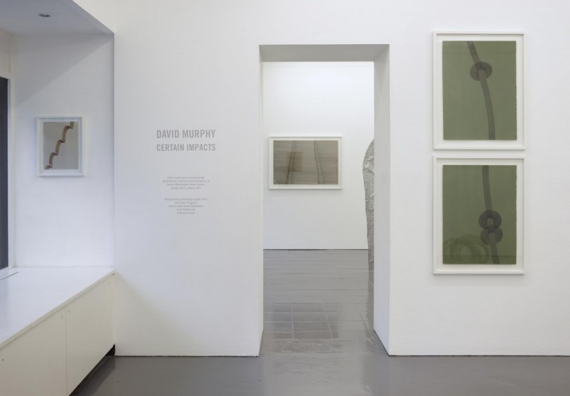 David Murphy: Certain Impacts. Installation view at PEER, 2014. Photo: Peter White FXP Photography