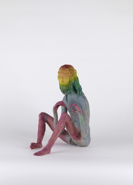 Clan of Rob, 2007, Modelling material, foil, wire, paint, 35 x 28 x 27 cm