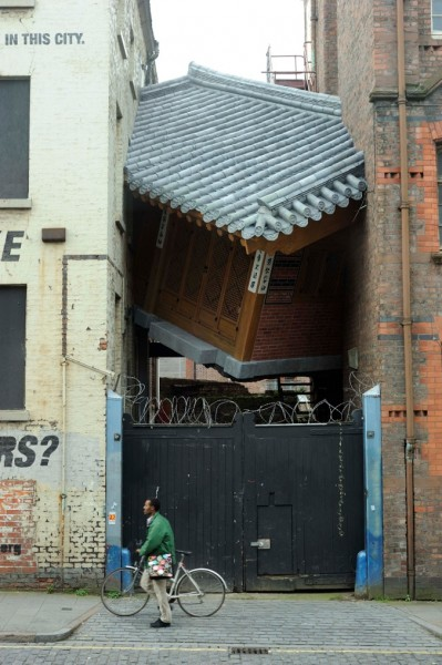 •Bridging Home (2010) by Do Ho Suh. Commissioned for Liverpool Biennial, Touched © Thierry Bal