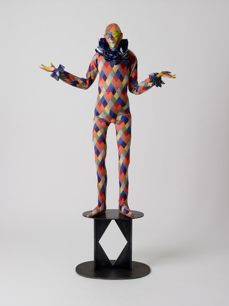 Mandrake, 2013, Modelling material, foil, wire, paint, cloth, 125 x 88 x 35 cm