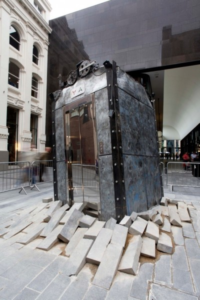 •The Lift (2012) by Oded Hirsh. Commissioned for Liverpool Biennial, The Unexpected Guest © Jerry Hardman-Jones