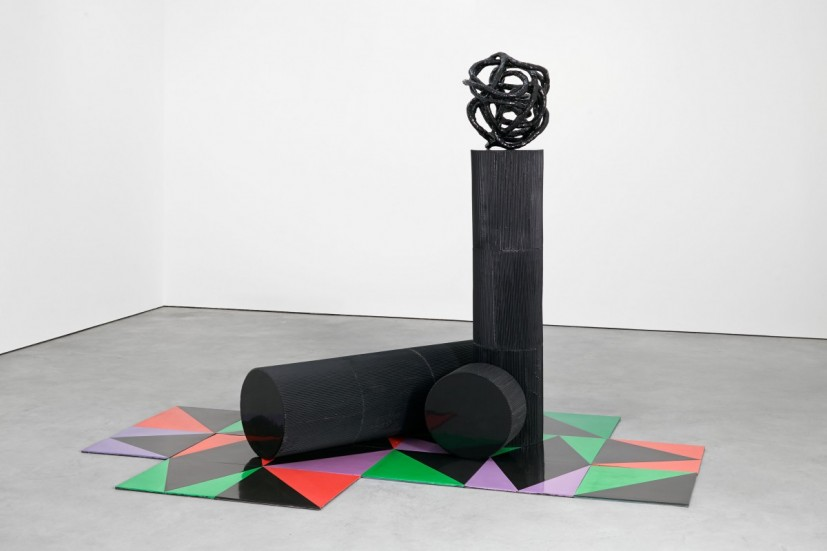Eva Rothschild, Untitled, 2014, jesmonite, resin, 188 x 265 x 177cm. Image courtesy the artist and Stuart Shave / Modern Art, London