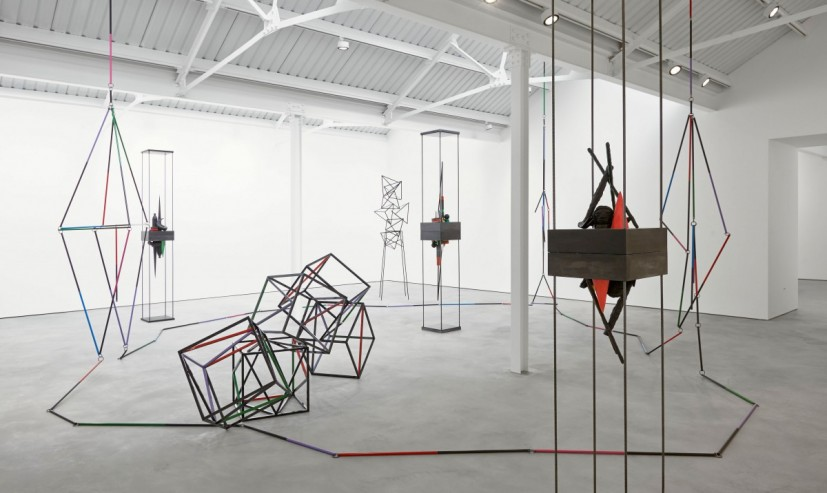 Eva Rothschild, What the Eye Wants, exhibition view, Modern Art, 25 April - 24 May 2014. Image courtesy the artist and Stuart Shave / Modern Art, London.