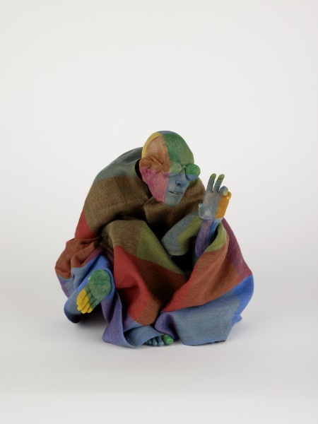 Richard, 2008, Modelling material, foil, wire, paint, cloth, 26.5 x 19 x 14 cm