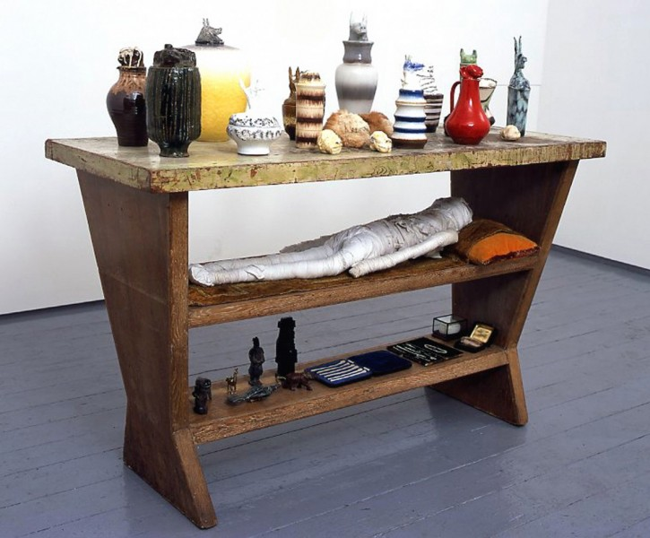 Traveller's Collection, 2003, mixed media, 91 x 153 x 61 cm