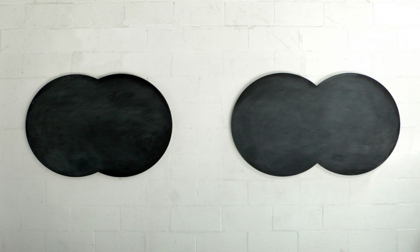 The Middle Distance, 2006, wood, blackboard paint, chalk, dimensions variable. Image courtesy the artist, © the artist