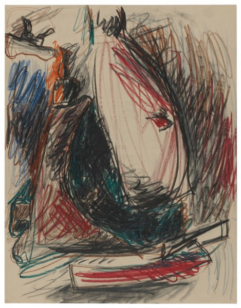 Lee Lozano, untitled, 1960s, crayon, charcoal and graphite on paper, 57 x 44.5 cm, copyright Estate Lee Lozano, courtesy Hauser & Wirth