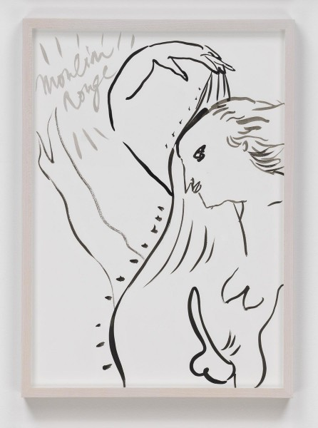 "Camille Henrot, ""Tropics of Love"", 2010-2012. Chinese ink on paper, 41.9 x 29.2 cm / 43.5 x 31.1 cm (framed). Courtesy the artist and Metro Pictures, New York"