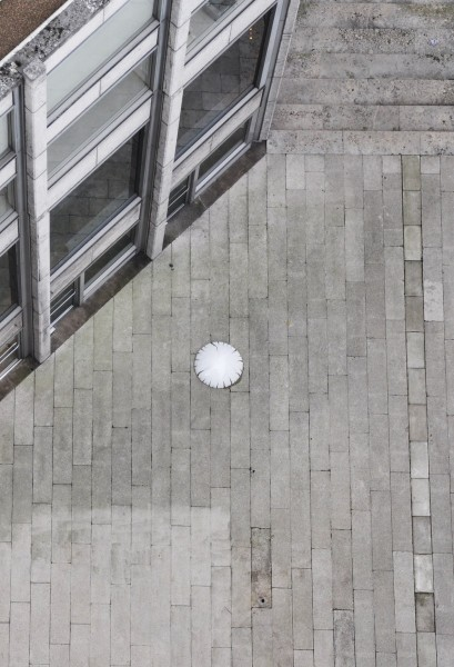David Rickard, Test Flights, aerial view, The Economist Plaza, London (27 November — 26 March 2010). Photo: the artist